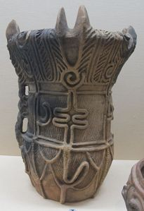 This pottery piece dates from the mid-Jomon period (about 6000 years ago).