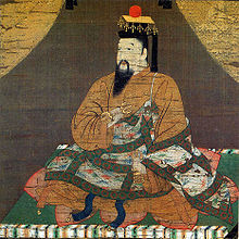 This is a period image of Go-Daigo, the Emperor who led the overthrow of the Kamakura bakufu. Three years later he would be defeated by his own lieutenant, Ashikaga Takauji.