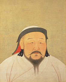 This is a portrait of Kublai Khan dating from his lifetime.