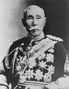 Yamagata Aritomo during the early Taisho period (1910s). Yamagata was the chief organizer of the Imperial Army and its most stalwart advocate and defender until his death in 1922.