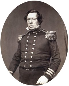Commodore Matthew C. Perry of the United States, c. 1858.