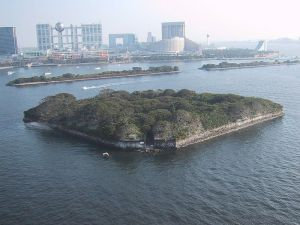 The island of Odaiba in Tokyo Bay was used by the shogunate to build a gun emplacement with which to defend the harbor.  However, the inferior quality of Tokugawa weaponry compared to that of the West meant that it never could serve its purpose of warding off Western incursion.