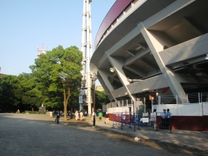 The site of the Yokohama Athletic Club is now Yokohama Stadium, home of the Yokohama DeNA BayStars.