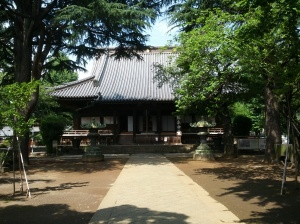 The modern honden of Kan'eiji, built after the battle of Ueno. It is about 2/3rds the size of the original.