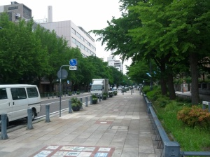 Yokohama's Nihon-Odori (Japan Avenue) once marked the boundary between the city proper and the foreign quarter.
