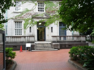The Yokohama Historical Archives, erected on the spot where the Treaty of Kanagawa was signed in 1854. The present building is the former British Embassy, and was sold to the city of Yokohama after the closing of the Foreign Quarter.