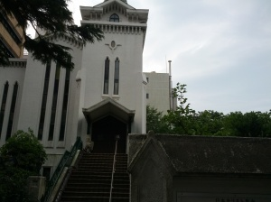 Yokohama Presbyterian Church, the oldest Protestant (though not the oldest Christian) church in Japan -- it dates back to the 1870s and remains in use, but now with an entirely Japanese group of pastors and a mostly Japanese congregation.