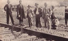 """Japanese """"experts"""" assessing the """"railway sabotage"""" ostensibly performed by Chinese dissidents and used as an excuse to invade Manchuria in 1931. In fact, the bombs had been planted by radical Japanese Army officers who seized the pretext for an invasion."""
