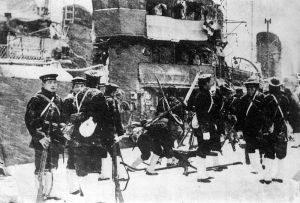 Marines from the Imperial Japanese Navy were brought in to help crush the February 26 coup, since (being members of the Navy) they could be counted on to have no loyalty to the Kodoha.