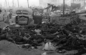 Civilian casualties in downtown Tokyo.