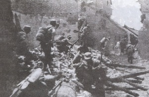 Chinese troops engaging in urban combat during the battle of Taierzhuang in 1938. Taierzhuang was one of the ambushes which halted the Japanese advance and resulted in the ongoing slog from which, by 1940, there seemed to be no exit for Japan.