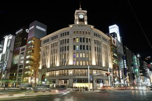 The Ginza district of downtown Tokyo. In 1989, 1 square meter of this district would have run you $200,000.