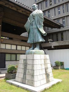 "A statue of Rennyo, the ""Second Founder of Jodo Shinshu."""