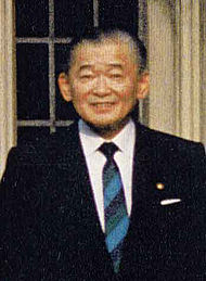 Takeshita Noboru after his time as Prime Minister. Takeshita led the coup that would destroy Tanaka's career.