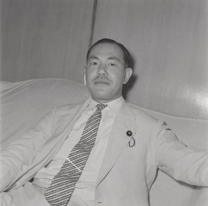 Tanaka Kakuei in the early 1960s.