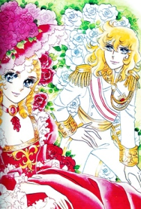 The main characters of Ikeda Riyoko's Berusaya no Bara (The Rose of Versailles). On the left is Marie Antoinette, on the right is the protagonist Oscar. Courtesy of the Wikimedia Foundation.