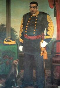 Saigo after the Meiji Restoration in a uniform modeled after that of a French military officer.