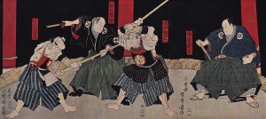 Sakakibara Kenkichi's public tournament, the first ever to have public demonstrations of swordsmanship. Courtesy of Kenshi 247.