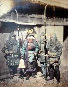 Late Edo samurai with naginata. Courtesy of the Wikimedia Foundation.