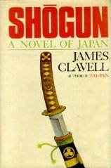 The first-edition cover of Shogun upon its release in 1975.