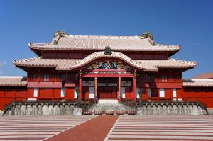 Shuri Castle in Naha, capitol of the Kingdom of the Ryukyus (as well as modern Okinawa Prefecture).