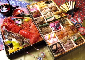An assortment of Osechi Ryori.