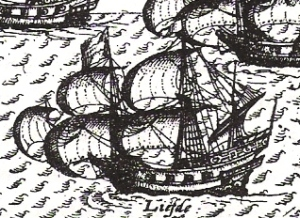 The Liefde, the ship William Adams sailed to Japan.