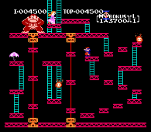 Donkey Kong, Nintendo's first breakout hit in the US. Courtesy of GiantBomb.