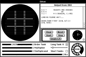 OXO, one of the first games ever programmed, running in an emulator on a modern system. The code for the game dates from 1952. Courtesy of the Wikimedia Foundation.