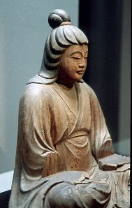 A statue of Empress Jingu, who was considered by some as likely to be the Queen Himiko referenced in Chinese records.