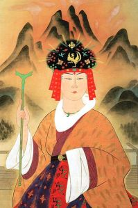 An artists rendering from the Meiji Period of Himiko's appearance.
