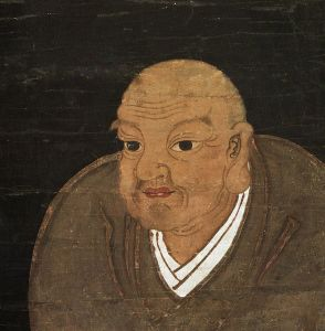 A roughly contemporary portrait of Nichiren late in life. Courtesy of the Wikimedia Foundation.