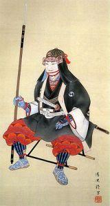 A print of Oishi Yoshio, the samurai who led the 47 Ronin.