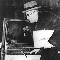 Nomura Kichisaburo arriving at the White House to present himself as the new Japanese ambassador in February, 1941.