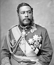 King Kalakaua, the Hawaiian monarch who attempted to imitate Meiji Japan. American pressure caused the Japanese to rebuff him.