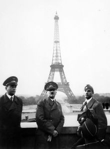 The fall of France in June, 1940 provided impetus to those in the Japanese government who wanted to align with Germany. Here, Hitler is shown touring Paris after its defeat with the famous German architect Albert Speer.