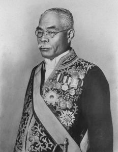 Hamaguchi Osachi, the Prime Minister with the dubious distinction of being the last leader to successfully cooperate with the US on a major initiative (the London Naval Conference). For his trouble, an assassin would attempt (and fail) to kill him in 1931.