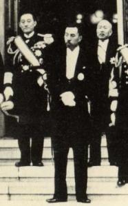 Konoe Fumimaro at the time of his first appointment as Prime Minister in 1937.