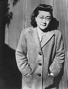 Iva Toguri outside of Radio Tokyo in 1944.