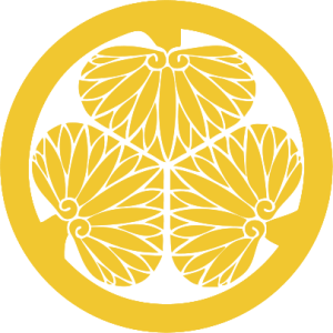 The hollyhock crest of the Tokugawa family.