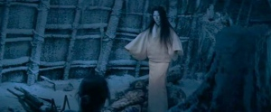 A wider view of the Yuki Onna in the 1965 film version of Kwaidan. Courtesy of ferdyonfilms.com.