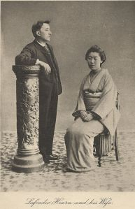 Lafcadio Hearn and his wife Koizumi Setsu. Courtesy of the Wikimedia Foundation.