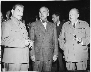 Tsuyoshi Hasegawa's central thesis in Racing the Enemy is that President Harry Truman and Soviet Premier Joseph Stalin were competing (racing, you might say) to see how much of the former Japanese empire each could acquire. In that race, the atomic bomb represented a potential shortcut for the US.