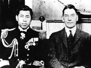 Yamamoto Isoroku with the US Secretary of the Navy in the 1920s.