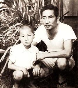 Koizumi Junichiro and his father Koizumi Jun'ya. Date unknown.