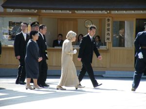 Atsuko Ikeda, elder sister of Emperor Akihito and one of two sai'o (Chief Priests) of Ise Shrine. The position must be held by a female member of the Imperial family, but thanks to reforms during the American Occupation those who leave the immediate nuclear family of the Emperor lose their imperial titles.