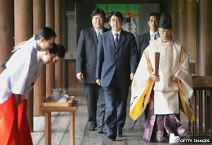 Abe Shinzo visiting Yasukuni in 2012.