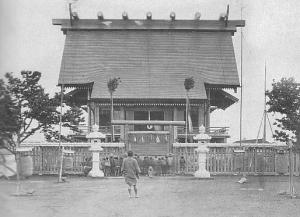 The original Tokyo Shokonsha (what would later become Yasukuni Shrine), constructed in 1869 to honor the souls of those who had died in the Boshin War.