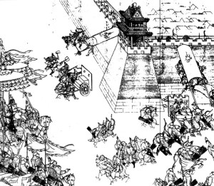 The Ming-Qing Wars took decades to play out before the Ming were finally defeated. In this battle -- the battle of Ningyuan -- Nurhaci, the man who instigated the conquest of China, was fatally wounded. His grandson would be the one to finally take Beijing.