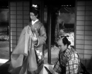 Life of an Amorous Woman was adapted into a movie by the Japanese director Mizoguchi Kenji, called Life of Oharu. This is one screen from the movie. Courtesy of the Wikimedia Foundation.